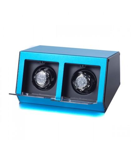 Uhrenbeweger Argentum 2 Uhren Blau